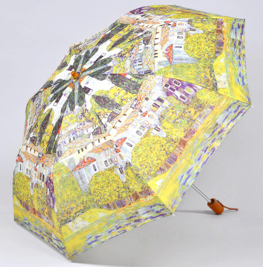 <AMANO>【折りたたみ傘】クリムト ドナウ河沿
