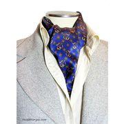エレガント袋縫いプリント柄メンズ用100%シルクスカーフ 10103