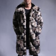 新作 メンズ ファーコート 毛皮コート ロングコート 上着  秋 冬 防寒 全2色