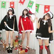 【即日出荷】3色 パーカー サンタコスチューム クリスマス コスプレ衣装【9202】