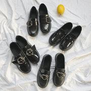 イングランド カレッジ風 小さな靴 何でも似合う 秋冬 学生 靴 ペダル ローファー ピ