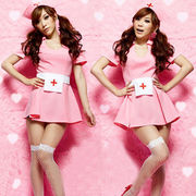 可愛いピンク ナース服 コスプレ衣装 ハロウィン
