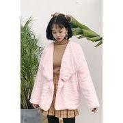 冬 新しいデザイン 韓国風 風 気質 大ラペル ルース 何でも似合う 暖かい ふわふわ