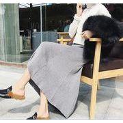 【大きいサイズXL-3XL】ストレッチありファッション/人気スカート♪ブラック/グレー2色展開◆