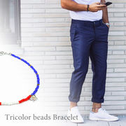 Tricolor beads Ancklet トリコロール ビーズ アンクレット