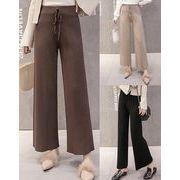 パンツ ゆったり ワイドパンツ ハイウエスト 純色 ファッション 着まわし 全3色 #200409