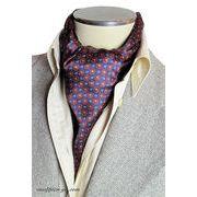 エレガント袋縫いプリント柄メンズ用100%シルクスカーフ 10101