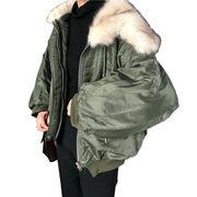 秋冬 女性服 新しいデザイン 韓国風 大 毛皮の襟 + 単一色 ふわふわ 学生 暖かい
