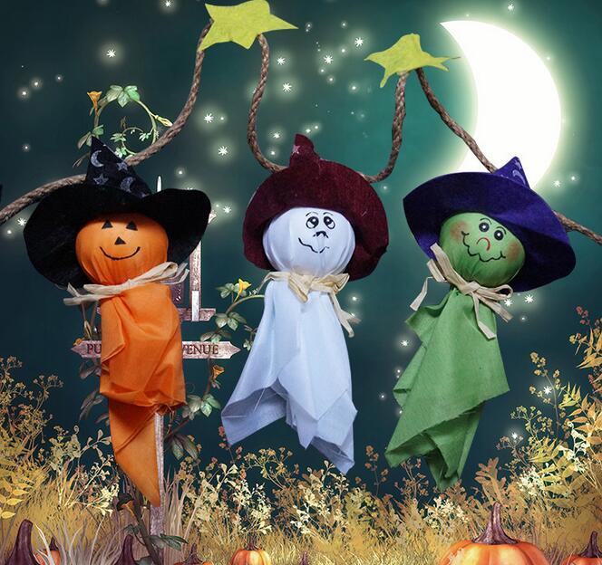 ハット魔女のかかしの人形装飾 ハロウィンゴースト人形 1組三点