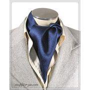 エレガント袋縫い幾何学柄メンズ用100%シルクスカーフ 10131a