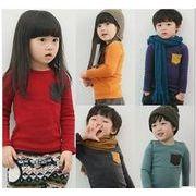 子供Tシャツ キッズ服  トップス 長袖 インナー 90-130cm 全5色