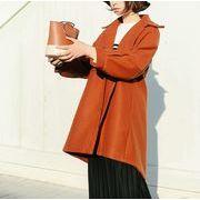 コート ボリューム袖 無地 韓国風 ゆったり 全2色 r3001923