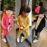【再入荷】4色 セットアップ 秋 子供服 トップス+パンツ 男女兼用 2点セット スポーツウェア