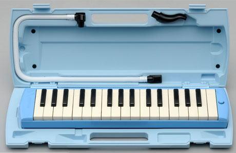 ヤマハ製32鍵盤ハーモニカ ピアニカ ブルーP-32E/P32E/YAMAHA