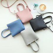 バッグ レディース 鞄 4色 ミニバッグ 合皮 小さい鞄 無地 カジュアル系