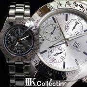 !!大決算セール!!【IIK collection】[2色]イミテーションクロノグラフデザイン メンズウォッチ(腕時計)