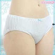 ■送料無料■ 綿パンツ単品(ロリパン) 色:白×ブルーリボン サイズ:M/BIG