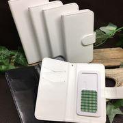 ★手帳型スマホケース(光沢/全2色) ★スライド式でほぼ全機種対応★【5サイズ】4-6インチ