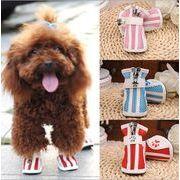 犬用靴 スニーカー メッシュ ペット用品 お散歩 ペット靴 シューズ 5サイズ