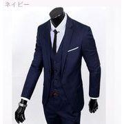 秋服 高い品質 ビジネス レジャー スーツ 3点セット 新しい スーツ セット レイク・-続く(2)