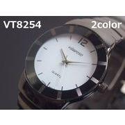 VITAROSOメンズ腕時計 メタルウォッチ 日本製ムーブメント ガンメタ仕上げ
