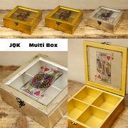 【SALE/値下げ】ジャック、クイーン、キングをモチーフ★トランプ マルチボックス♪【JQK Wood Box】