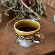 モダニズム 和風コーヒーカップ  琥珀(こはく)[H1255][美濃焼]