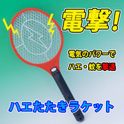 電撃!電気のパワーでハエ・蚊を撃退!ハエたたきラケット