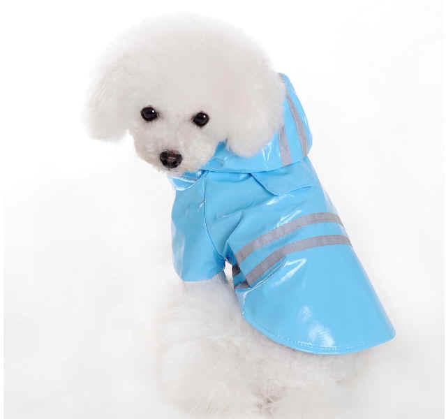 ★即納★ レインウェア ドッグウェア☆犬服★レインコート(S-XXL)ブルー ピンク(全2色)