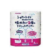 シャワートイレのためにつくった吸水力が2倍のトイレットペーパーフローラルブーケの香り4ロールダブル
