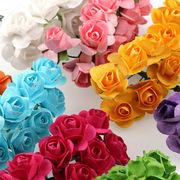 144輪入り 造花 ローズ 花のみ 選べる14色 約2cm 花冠に 花束 結婚式 お祭 披露宴 出演 アクセサリー 手芸
