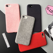 iPhone 8 plusケース ファブリックソフトケース iPhone7 plus アイホンXケース