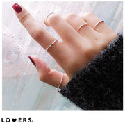 春新作 silver925 ラインリング ma【即納】silver925 細身 レディース アクセサリー 指輪