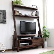 【期間限定5%OFF】テレビ台 ハイタイプ 北欧デザイン 壁面 50インチ対応 120cm幅 ブラウン LDATV125-BR