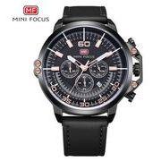 送料無料 MINIFOCUSメンズ クロノグラフカレンダー腕時計MF-165