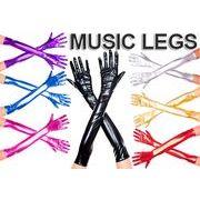 MusicLegs(ミュージックレッグ) エクストラロング丈 メタリックグローブ 457