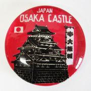 日本製マグネット大 大阪城 赤 ガラスマグネット