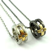 ゴールドクロスリングネックレス ★ペア★指輪★プレゼント★記念日★リング