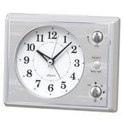 SEIKO セイコー 目覚まし時計 アナログ マルチサウンドアラーム 白 NR445W