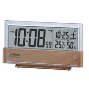 SEIKO セイコー 置き時計 電波 デジタル カレンダー・温度・湿度  SQ782B