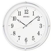 SEIKO セイコー 掛け時計 電波 アナログ 丸型 プラスチック枠 白 KX231W