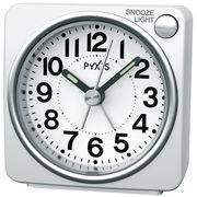 SEIKO セイコー 目覚まし時計 アナログ PYXIS (ピクシス) 白パール NR437W