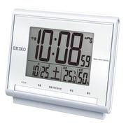 SEIKO セイコー 目覚まし時計 電波 デジタル カレンダー 温度 湿度 SQ698S