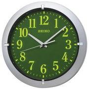 SEIKO セイコー 掛け時計 アナログ 集光樹脂文字板 銀色メタリック KX618S