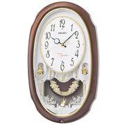 SEIKO セイコー 掛け時計 電波 アナログ 16曲メロディ 飾り振り子 AM260A