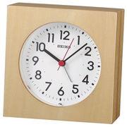 SEIKO セイコー 掛置兼用時計 アナログ アラーム 木枠 天然色木地 KR501A