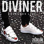 2018春夏新作★【DIVINER】ローズプリントベルクロスニーカー/メンズ 靴 シューズ 春夏 2018新作
