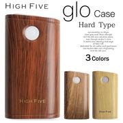 HIGH FIVE glo ハード スリーブケース 木目調ウッドデザイン gloケース 2カラー