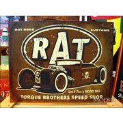 アメリカンブリキ看板 torque brothers RATROD