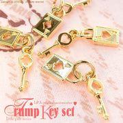 "★L&A Original Parts★トランプのチャーム★鍵とセットで★K16GP★♪103 ""Trump Key set"""